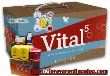 Forever Vital5 box Forever Vital5. Advanced nutritional supplement in one package
